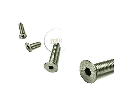 A4 MARINE GRADE Stainless Steel Countersunk Socket Screws M6 M8 M10