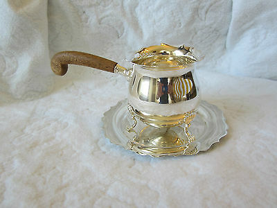 Vintage Fisher Jack Shepard #1065 Sterling Silver Sauce/Gravy Pot w/ Charger