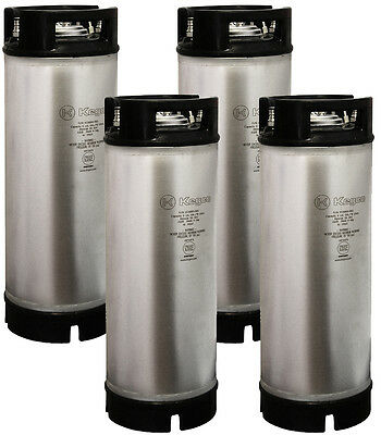 Set of 4 NEW Kegco 5 Gallon Ball Lock Pepsi Home Brew Beer Kegs - Rubber Handle