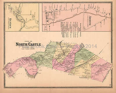 Town of North Castle New York Antique Map Beers 1867 Original