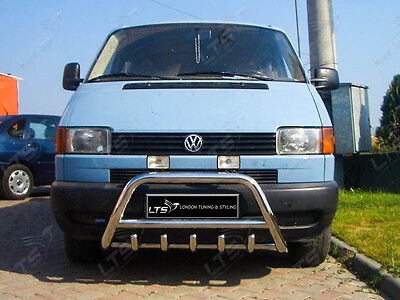 Vw T4 Transporter  Chrome Axle Nudge A-Bar, Bull Bar