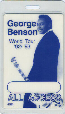 GEORGE BENSON 1992-93 Laminated Backstage Pass All Access