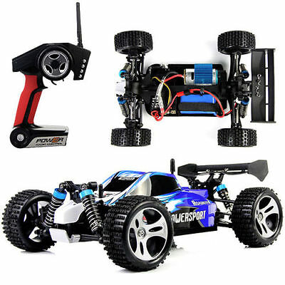 4WD 2.4G High Speed Radio Remote Control RC RTR Racing Car Off Road 50km/h Blue