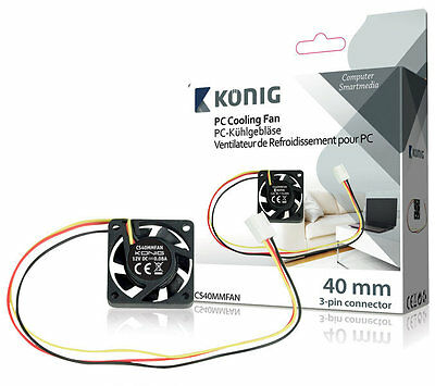 König Ventilador para placa base de 40 mm, con conector de 3 pines, ideal para u