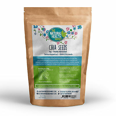 Chia Seeds 1kg Natural Weight Loss & Detox With Raw Whole Chia Gluten Free