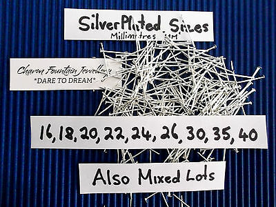 Jewellery Wholesale Bulk Findings Supply Making Head Pins Mixed Silverplated (P2