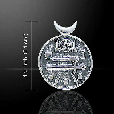 Magickal Witches Cauldron Necklace Pendant Peter Stone Sterling Silver TP3314