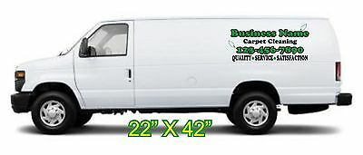 Custom 2 color decal set for carpet cleaning van. Set of 3 pieces (green style)