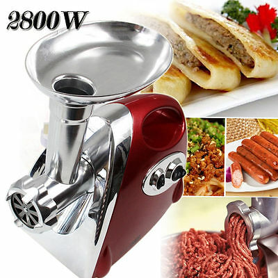 Red COMMERCIAL ELECTRIC MEAT GRINDER / MINCER Sausage filler Maker 2800w AU