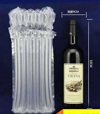 Inflatable Air Packaging Protective Bubble Pack Wrap Bag For Wine Bottle X 10