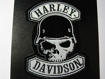 Harley Davidson Patch Small Skull Helmet Look And Buy It Now!!