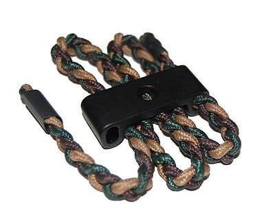 Archery Braided Camo Paracor Bow Wrist Sling Aluminum Compound Bow Stabiliser