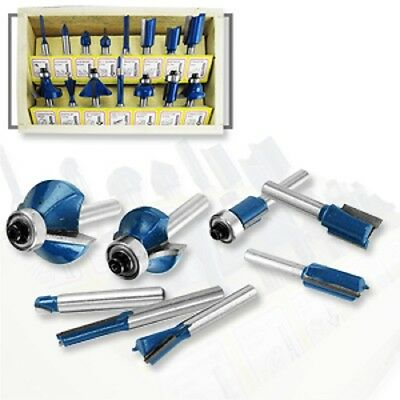"""15pc Router Bit Set 1/4"""" Shank Wood Working Power Tools Shop Carbide Tipped"""