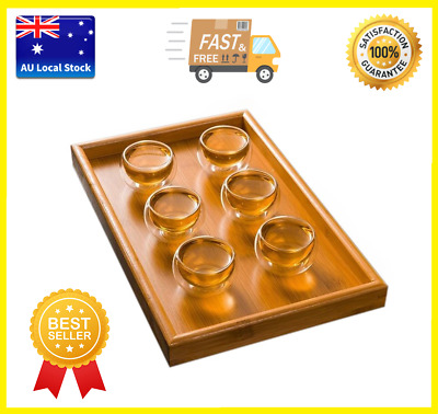 Pack of 6 Double Wall Small Glass Tea Cup Bar Shots 50ml