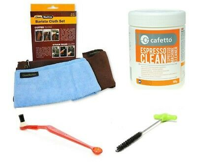 Cleaning Kit Espresso Machine Pallo Coffee Tool Brush Steamy Wanda & Cloth Set