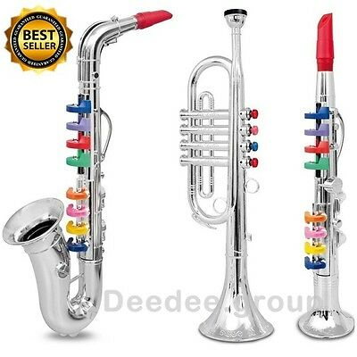 Saxophone Trumpet Clarinet Toy Kids Musical Sound Music Learn Play Fun Orchestra
