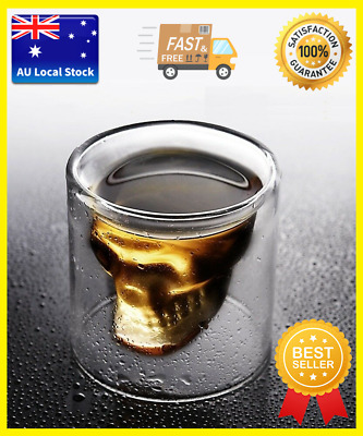 Cool Skull Design Glass Tea Cup Cocktail Cup Vodka Shots Juice Cup In 4 Sizes