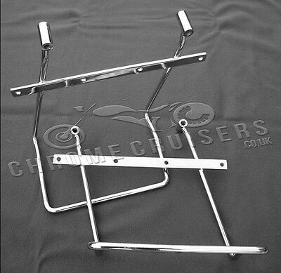 Yamaha XVS1300 Midnight Star Chrome Saddlebag pannier support brackets bars kit