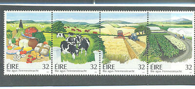 Ireland-Agriculture-Farming-Tractor-mnh strip (857a)