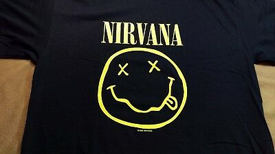 2000's Reprint 1992 Nirvana 2 Sided Corporate Whores Concert T Shirt L New
