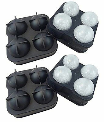 2 X Whiskey Ice Cube Ball Maker Mold Sphere Mould Party Tray Round Bar Silicone