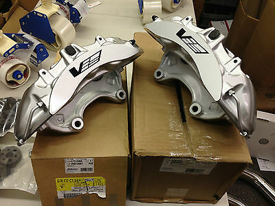 2009-12 Cadillac CTS-V GM OEM Brembo Silver 6 Piston Front Calipers Only Pair