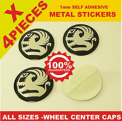 wheel center caps 4x metal STICKERS front rear badge hub emblem cover VAUXHALL