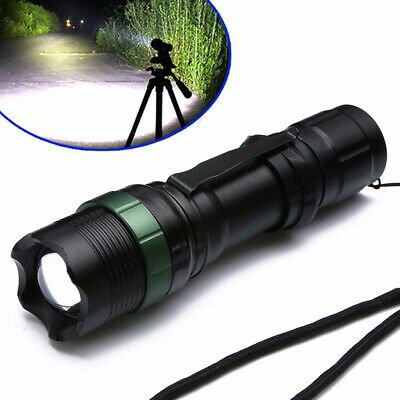 Tactical 20000LM Zoomable XML Q5 LED 18650 Flashlight Torch Lamp Light 3 Modes