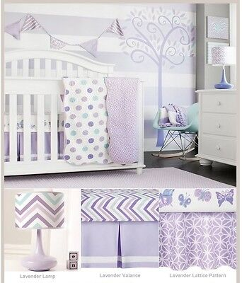 coCalo Mix & Match Collection 100% Cotton Cot Coverlet Sheet Cot Bumper Lamp Set