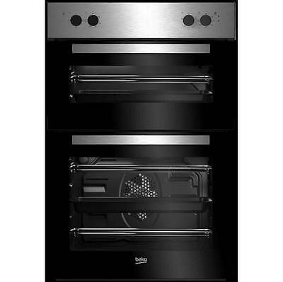 Beko BRDF21000X Built In 59cm Double Cavity Electric Double Oven Stainless