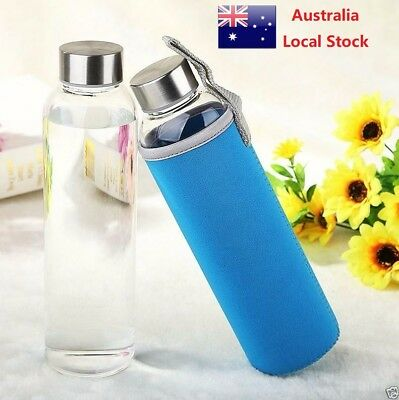 Glass Water Bottle Travel Bottle Tea Bottle Coffee Bottle Car Bottle 550ml