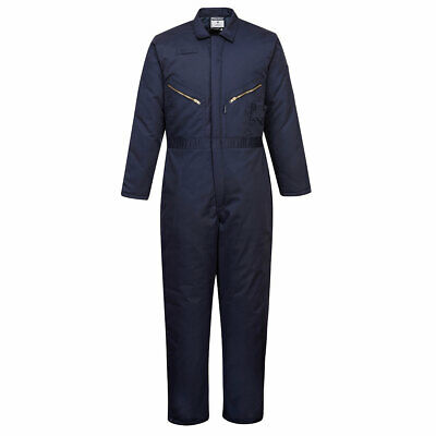 PORTWEST S816 Orkney padded navy winter thermal lined boilersuit coverall S-3XL
