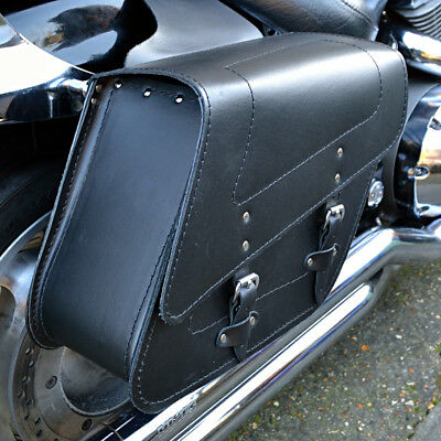 Motorcycle Leather Saddlebags Panniers Honda Vt125 600 700 Shadow Vt750 C2-C9