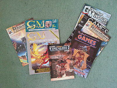Vintage and Rare role-playing magazines, journals and compendiums