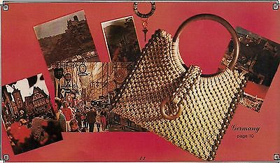 BOOK ONLY #3350 Purses Round the World - Square Macrame Shoulder Bag Pattern