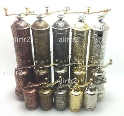 Turkish Pepper Coffee Spice Grinder Mill  3 pCS SET 8.6 inch 22CM Hand mill GIFT