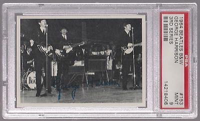1964 The Beatles B&w George Harrison 3Rd Series Card #153 Psa 9 Mint & Centered