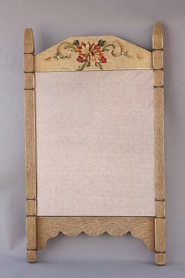 1930s Rancho Monterey Mirror Hand Painted Floral Motif Early California (7786)