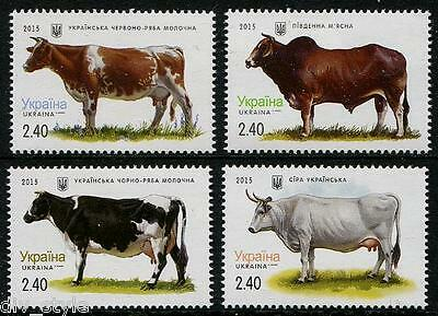 Cows set of 4 stamps mnh Ukraine 2015