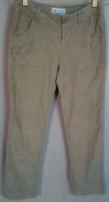 7313f506363e0 COLUMBIA CASUAL SAND KHAKI LIGHT WEIGHT CORDS CORDUROY Pants Womens Size 4R  EUC