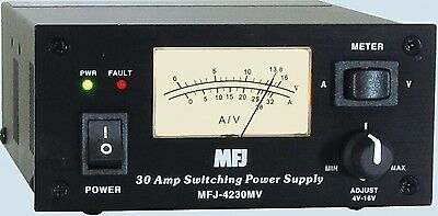 MFJ-4230MV Compact Variable Power Supply 13.8VDC