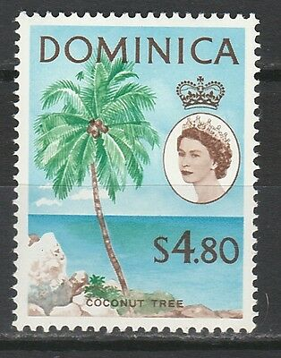 Dominica 1963 Qeii Coconut Tree $4.80 Mnh ** Top Value