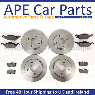 Ford Focus MK1 1998-2004 Front and Rear Brake Discs & Brake Pads NEW