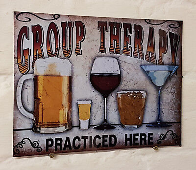 group therapy beer, Retro metal Aluminium Sign vintage bar pub man cave signs