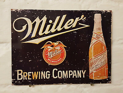 miller beer Retro metal Aluminium Sign vintage bar pub man cave beer signs shed