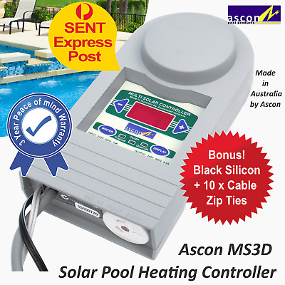 Solar Pool Heating System Digital Automatic Pump Controller MS3D by Ascon