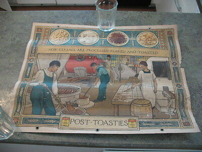 Vintage 1927 Original Lithograph Poster Post Toasties Cereal Carolyn Haywood