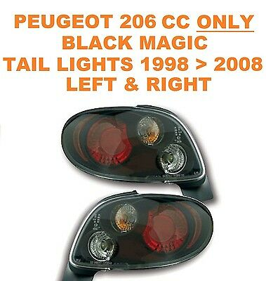 Peugeot 206 CC 2 Door ONLY Black Magic Performance Lexus Style Rear Lights