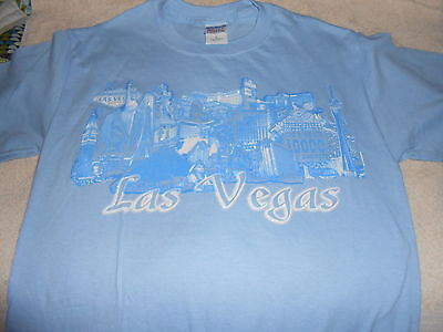 Baby Blue Las Vegas Adult T-Shirt - Brand New - Small