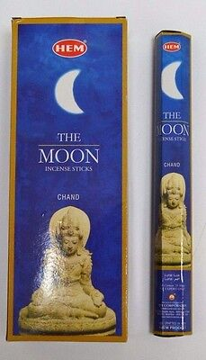 Hem The Moon Incense Bulk 6 x 20 Stick Box 120 Sticks Wicca Pagan